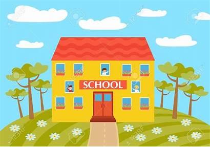 Cartoon Colegio Clipart Escuela Clip مدرسه Primaria