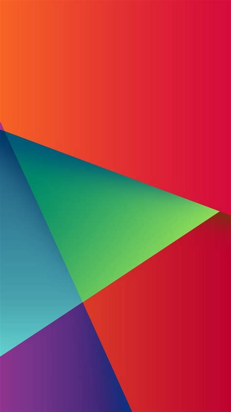 abstract colorful triangles iphone  wallpaper hd