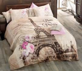 Eiffel Tower Bedding And Comforter Set by Cotton Comforter And Eiffel Towers On