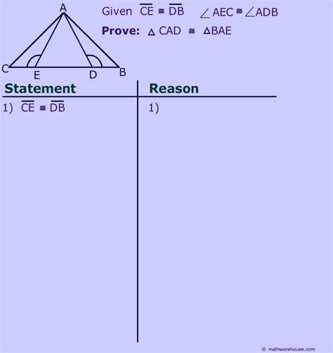 proving triangles congruent worksheet answer key angle side postulate for proving congruent