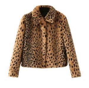 Cheetah Print Faux Fur Coat