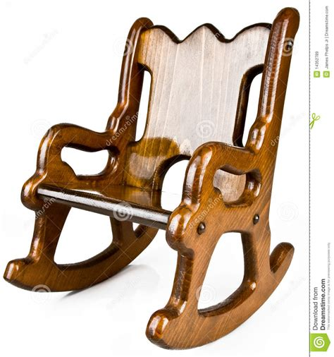 child s solid wood rocking chair royalty free stock images
