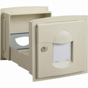boite aux lettres 2 portes renz solea acier gris leroy With porte de garage enroulable avec serrure de boite aux lettres