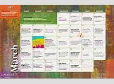 Teen Activities Calendar March 2017
