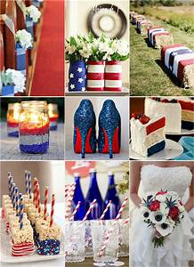 fourth of july inspired wedding ideas with red white and With fourth of july wedding ideas