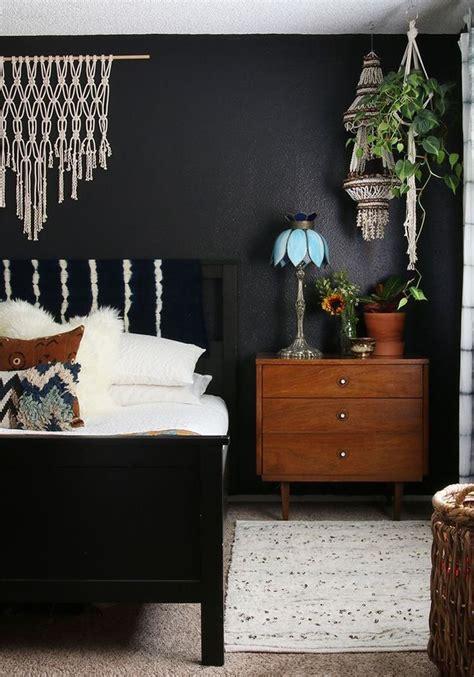 black walls   boho bedroom  images stylish