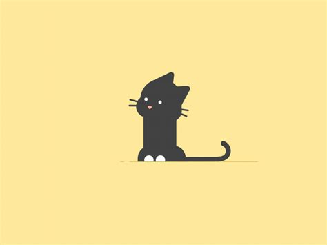 To set a gif image as animated wallpaper simply start bionix wallpaper changer and drag and drop your animated gif file over bionix. A cat | Motion design animation, Vector animation, Animal logo