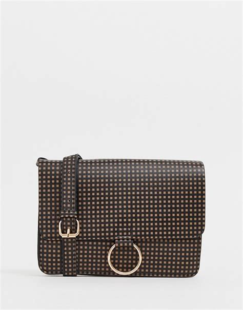 glamorous monogram print shoulder bag asos