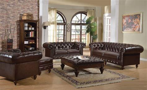 pc sofa set dark brown traditional living room hot