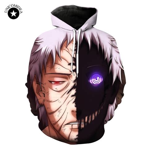 unicomidea naruto  anime hoodie uchiha obito cartoon