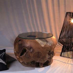 Glastisch Mit Holz : teak holz tisch mit glasplatte ca 55cm ~ A.2002-acura-tl-radio.info Haus und Dekorationen