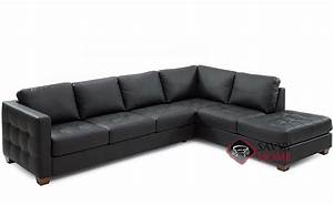 Barrett leather chaise sectional by palliser is fully for Palliser sectional leather sofa