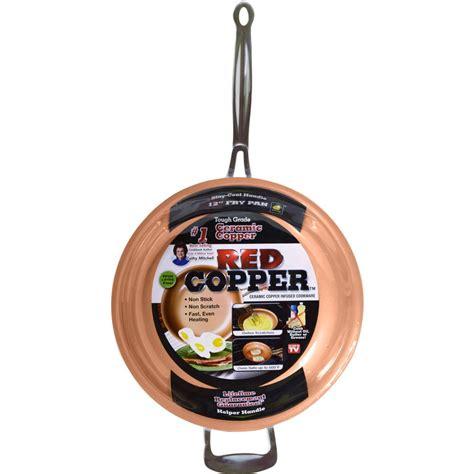 tv red copper  purpose ceramic pan   walmartcom walmartcom