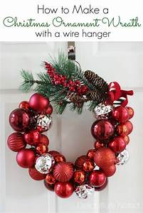 How, To, Make, A, Christmas, Ornament, Wreath, With, A, Wire, Hanger