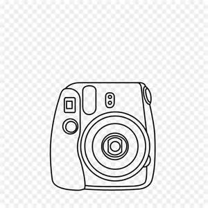 polaroid camera drawing png