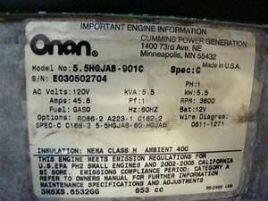 Generators Onan Gas Generator 5500 Marquis Gold For Sale