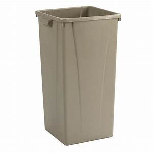 Carlisle Centurian 23 Gal. Beige Square Trash Can (4-Case ...