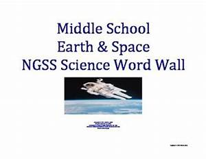 Science Word Wall MS Middle School Earth Space Vocabulary ...