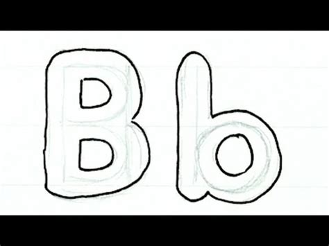 b in bubble letters how to draw writing real easy letter b 20538   hqdefault