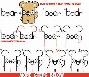"How to Draw Cute Cartoon Kawaii Bear from the Word ""bear ..."