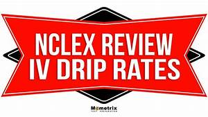 Iv Drip Rates