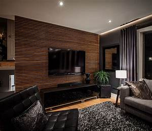 Amazing of Simple Amusing Textured Wooden Living Room Wal ...