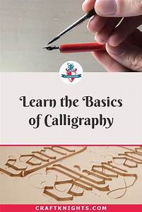Pin On Calligraphy For Beginners