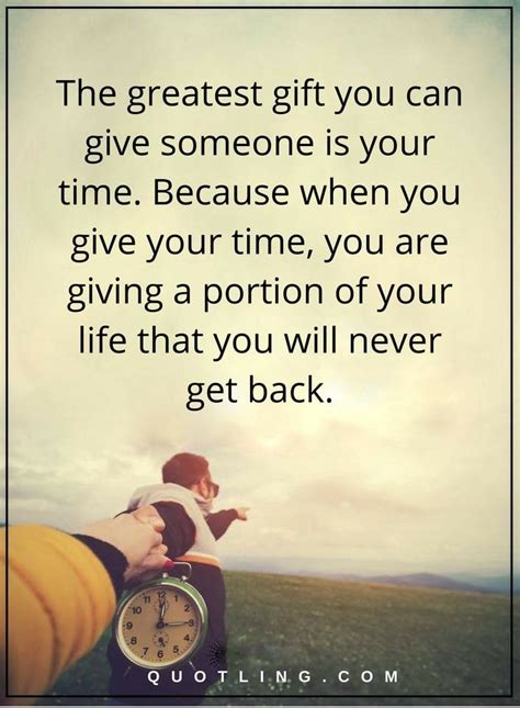 greatest gift   give    time