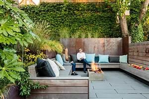 Wittman, Estes, Designs, Sunken, Courtyard, In, A, Sun, Soaked, Backyard