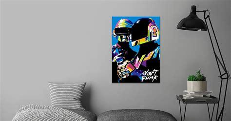 'Daft Punk Popart' Metal Poster - Gumilar Pratama Adiatna ...