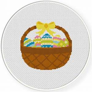 Egg Size Chart Easter Egg Basket Cross Stitch Pattern Daily Cross Stitch