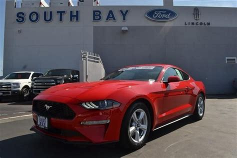 ford mustang ecoboost fastback race red  cylinder