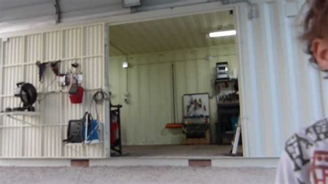 shipping containers home work shop part  youtube