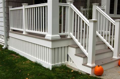 composite decking and railing idea with composite deck