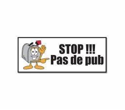 Pas De Pub Merci : plaque pour boite aux lettres personnalis e autocollant ~ Dailycaller-alerts.com Idées de Décoration