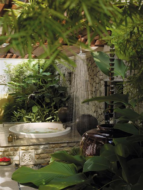 Design, tropical style, outdoor bathroom,home, bathroom, elegant, tropical bathroom design ideas