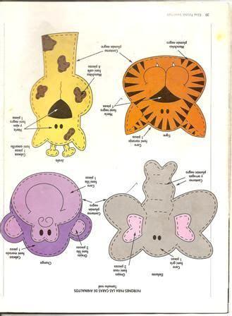molde animalitos de la selva jungle