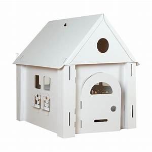 Cabane En Carton À Colorier : maison en carton pour enfant comment construire une cabane en carton mod les lilgaea ~ Melissatoandfro.com Idées de Décoration