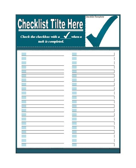 word template to do list 50 printable to do list checklist templates excel word