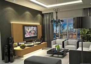 decoration salon en noir et blanc decoration salon With idée de décoration de salon