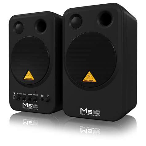 behringer ms16 studio monitors pair at gear4music