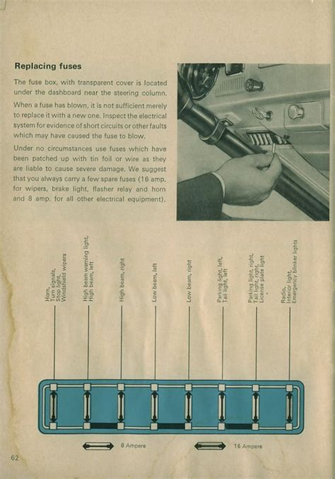 1962 Beetle Fuse Box by Thesamba Beetle 1958 1967 View Topic 12v