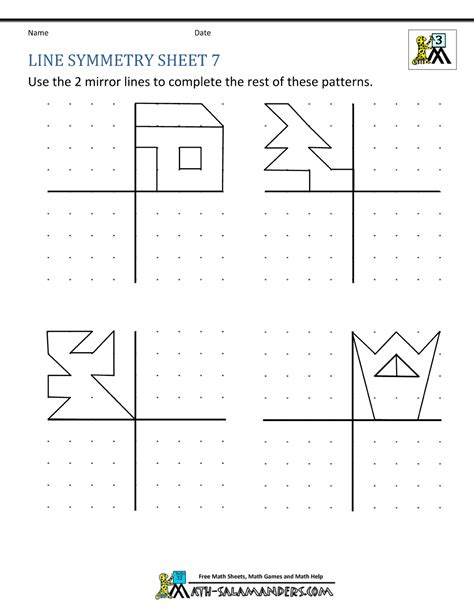 parallel lines worksheet year 4 kidz activities