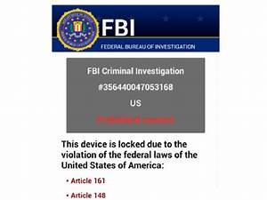 Guide To Remove Police Or Fbi Virus On Android Phone