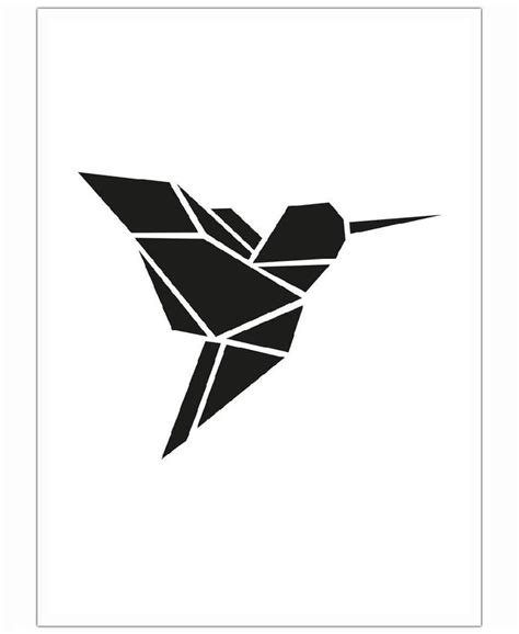 origami kolibri von eulenschnitt   juniqe dessin