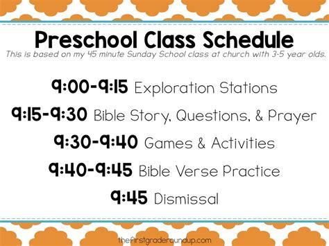 preschool sunday school schedule firstgraderoundup 488 | Schedule