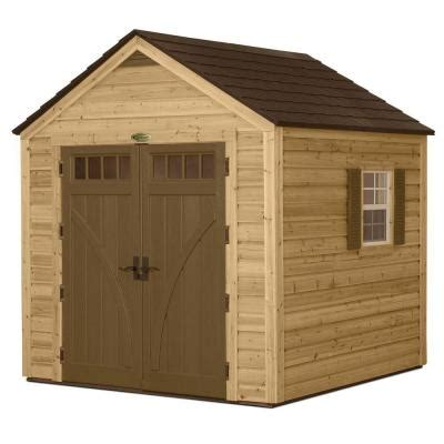 Suncast Storage Sheds Home Depot by Suncast 8 Ft X 8 Ft Cedar And Resin Hybrid Storage Shed
