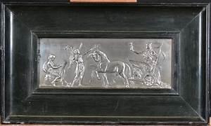 Tableau Metal En Relief : tableau sculpture en relief en m tal argent sc ne avec char romain sign schon f 2e moiti ~ Teatrodelosmanantiales.com Idées de Décoration