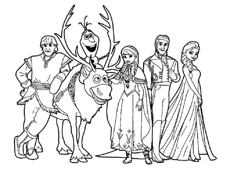 Frozen Kids Coloring Pages