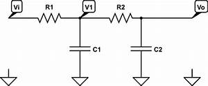 frequency response of 2nd order rc low pass filter With rc filter circuit